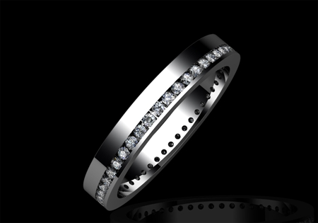 Diamond Wedding Ring by CMS