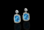 Aquamarine & Diamond Earrings by CMS