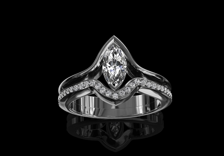 Diamond ring 'Aphrodite'