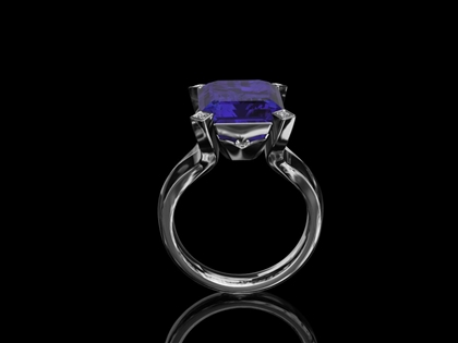 Tanzanite & Baguette Diamond Ring