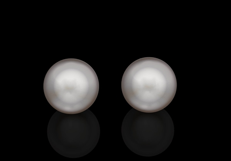 Pearl South Sea Ear Studs 9.75mm