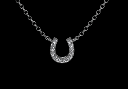 Horse Shoe & Diamond Pendant