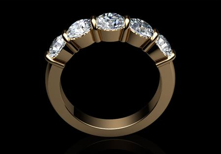 5 Stone Diamond Ring by CMS