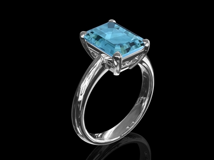 Aquamarine & Diamond Design 'Aspen'
