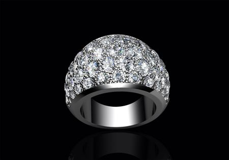 Diamond Bombe' ring designed by CMS