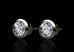 1.40ct Diamond Solitaire Earrings
