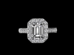 Emerald Cut Diamond & Platinum Ring