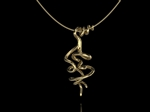'Vine' Tendril Pendant Double Gold