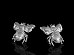 Bee earrings Silver