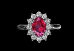 Ruby & Diamond Cluster Ring