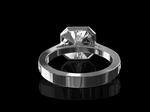 Diamond Ring 1.752ct Ascher E VS2 Cluster