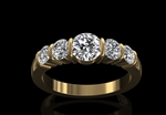 Diamond 5 Stone Ring 1.38ct