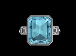 'Liberty' Diamond & Aquamarine Ring