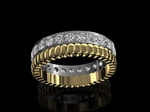 Gold Platinum & Diamond Wedding Ring 1.00ct