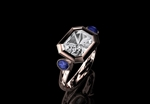 'Liberty' White, Blue Sapphire & Diamond Ring