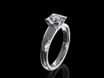 Diamond Solitaire Ring 'Princess'