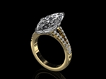 Diamond Marquise Ring 3.42ct