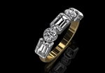 Diamond Half Eternity Ring 2.16cts
