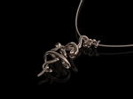 'Vine' Tendril Pendant Double Rose Gold
