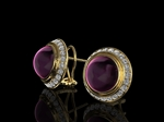 'Pantheon' Diamond & Rubilite Earrings