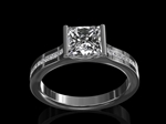 Princess Cut Diamond & Platinum mount