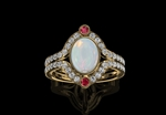 Opal & Ruby 18ct yellow gold