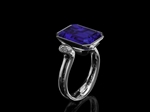 Tanzanite & Oval Diamond Ring