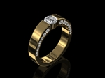 Diamond Wedding Ring 4mm