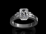 Diamond Dress Ring in Platinum
