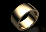 Gents 8mm Rounded Flat in 18ct Yellow Gold